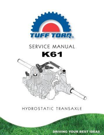 K61 Service Manual (.pdf) - Tuff Torq