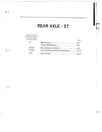 REAR AXLE - 27