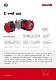 Drivetrain - Brusa Elektronik AG