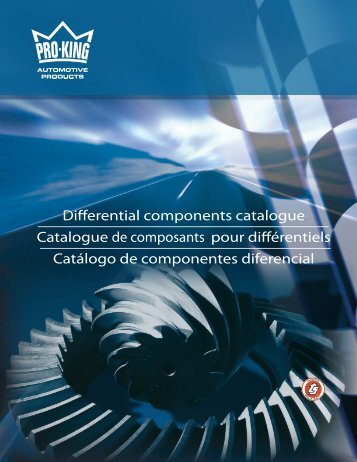Differential components catalogue Catalogue de ... - King-O-Matic