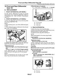 rear differential side gear shaft oil seal components