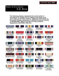 Awards Order of Precedence - U.S. Navy - The US Navy