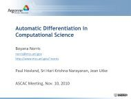 Automatic Differentiation in Computational Science
