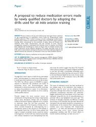 A proposal to reduce medication errors made by newly qualified ...
