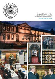 Department of the Legislative Assembly Annual Report for