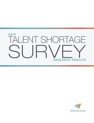 2012 Talent Shortage Survey - ManpowerGroup