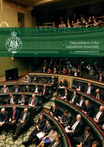 Department of the Legislative Assembly - Parliament of New South ...