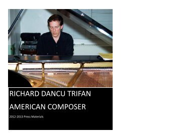 RICHARD DANCU TRIFAN AMERICAN COMPOSER
