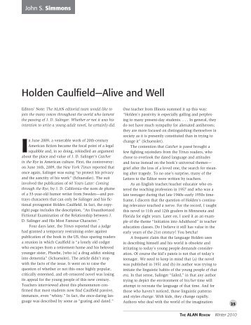 "catcher in the rye immaturity of holden caufield essay Free catcher in the rye papers in the rye - as eugene mcnamara stated in his essay ""holden caulfield as book review catcher rye] 1679 words."