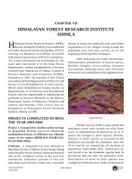 HIMALAYAN FOREST RESEARCH INSTITUTE SHIMLA - ICFRE