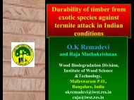 Durability of timber from exotic species against termite attack in ...