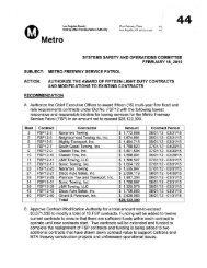 Metro Freeway Service Patrol - Metropolitan Transportation Authority