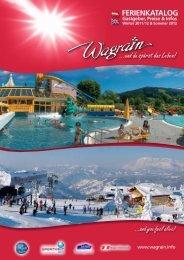 Ferienkatalog www.wagrain.info Winter 2011/12 & Sommer 2012 Gastgeber, Preise & Infos