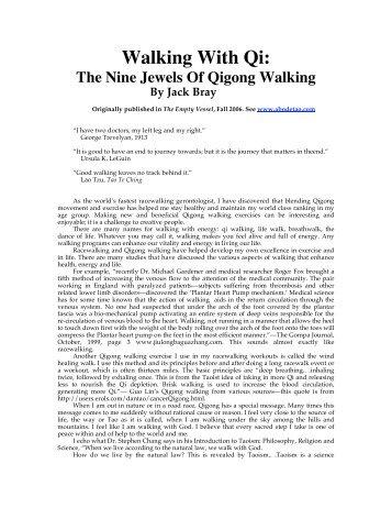 Walking With Qi: - Qigong Institute