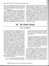 Feinberg - Classic Debate