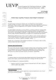 European acknowledged veterinarian - Federation of Veterinarians ...