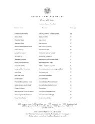 Sculpture Garden Plant List - National Gallery of Art