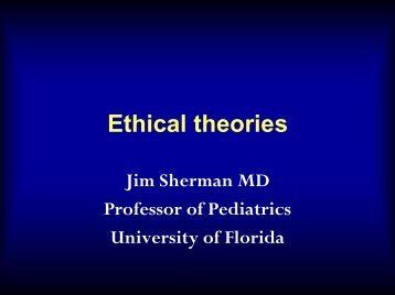 Ethical theories - American Society for Bioethics and Humanities