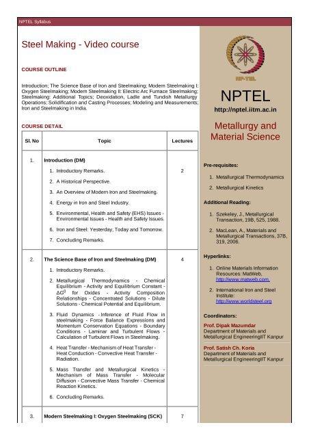 Nptel Thermodynamics Pdf