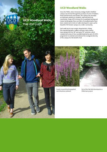 UCD Woodland Walks Map and Guide - University College Dublin