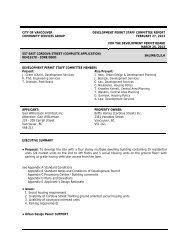 DPSC Report – 557 East Cordova Street ... - City of Vancouver