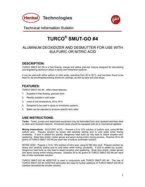 TURCO SMUT-GO #4