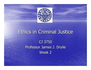 Ethics in Criminal Justice - Kean University