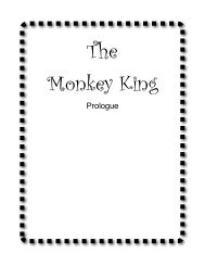 The Monkey King - Play Scripts and Songs for Teaching
