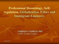 Professional Deontology, Self- regulation, Globalization, Ethics and ...