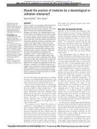 medicine - a deontological versus utilitarian enterprise ... - Bradfordvts