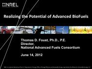 Realizing the Potential of Advanced BioFuels