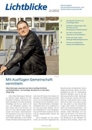 2/ 2012 - Schweizerischer Blinden- und Sehbehindertenverband, SBV