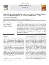 Functional near infrared spectroscopy (NIRS) signal improvement ...