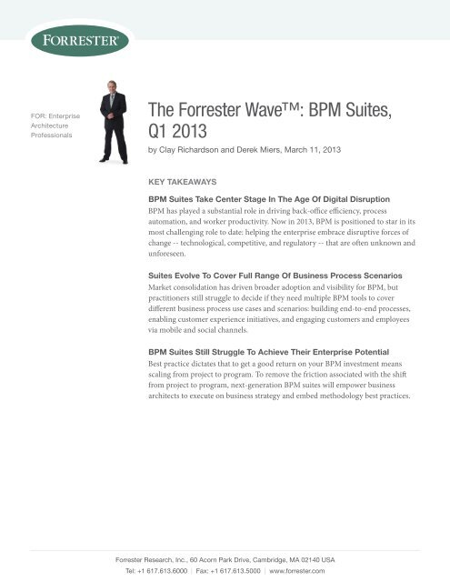 The Forrester Wave™: BPM Suites, Q1 2013