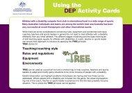 SP30276 DEP 4 Square card - Australian Sports Commission