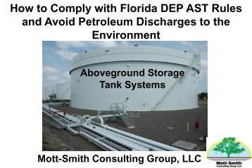 How to Comply with Florida DEP AST Rules and Avoid ... - NISTM