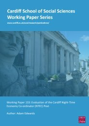 Working Paper 133: Evaluation of the Cardiff ... - Cardiff University