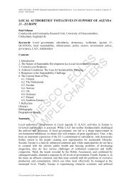 Local Authorities' Initiatives in Support of Agenda 21 - Europe - eolss