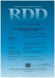 Contents and Editorial Introduction - UNCRD