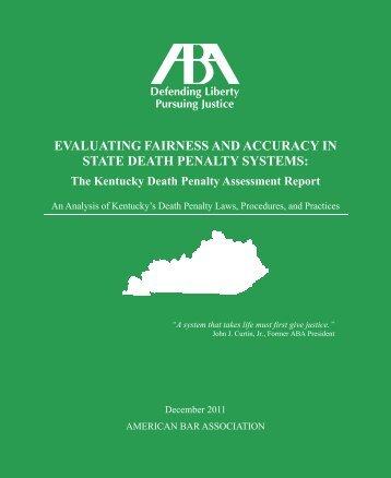 Kentucky Death Penalty Assessment Report - American Bar ...