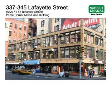 337-345 Lafayette Street - Massey Knakal Realty Services