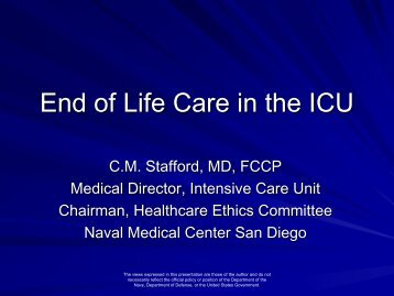 Palliative Care - Navy Medicine