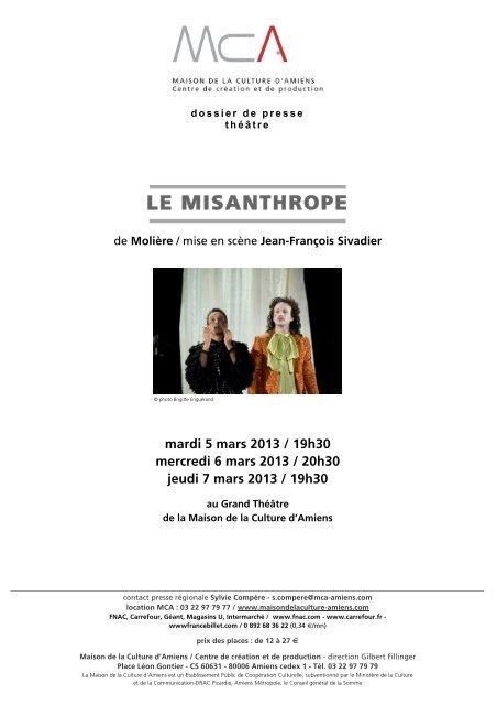 Le Misanthrope Maison De La Culture D Amiens