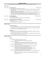 CV (Updated November, 2012)