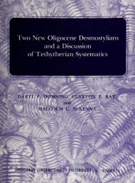 of Tethytherian Systematics - Smithsonian Institution Libraries