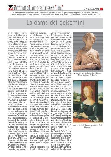 La dama dei gelsomini - Fondazione Internazionale Menarini