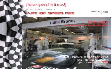 {have speed in focus!} Die Rennsaison der DTM 2013