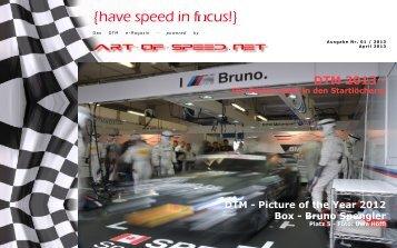 {have speed in focus!} Die Rennsaison der DTM 2013