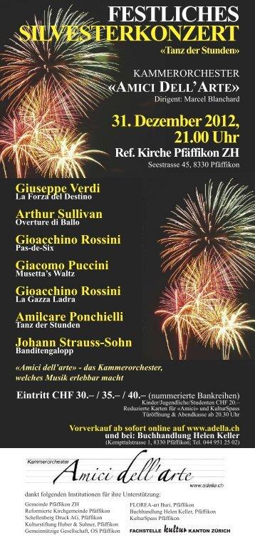 Tanz der Stunden - Kammerorchester «Amici dell'arte