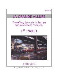 LA GRANDE ALLURE 1st 1980's - My Train Travels